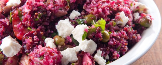 Hot Pink Quinoa Salad