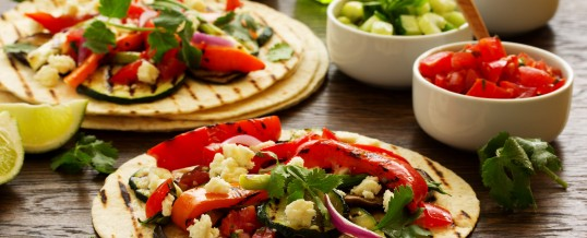 Summer Tacos: Green Beans, Chiles and Tomatillo Salsa
